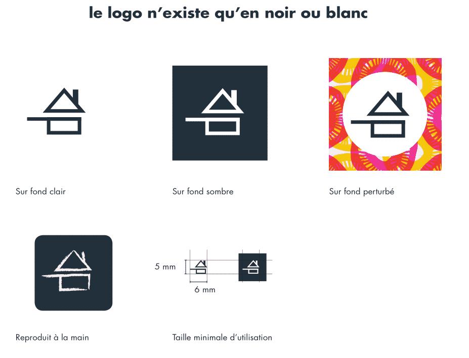 les variantes du logo fait maison