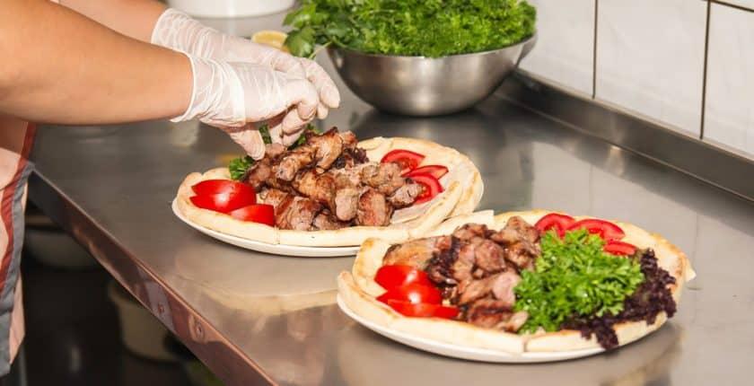 Preparation d'un kebab